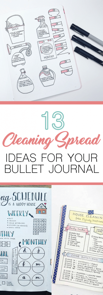 13 Bullet Journal Cleaning Schedule Ideas to try