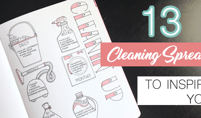 13 Brilliant Bullet Journal Cleaning Schedule Ideas