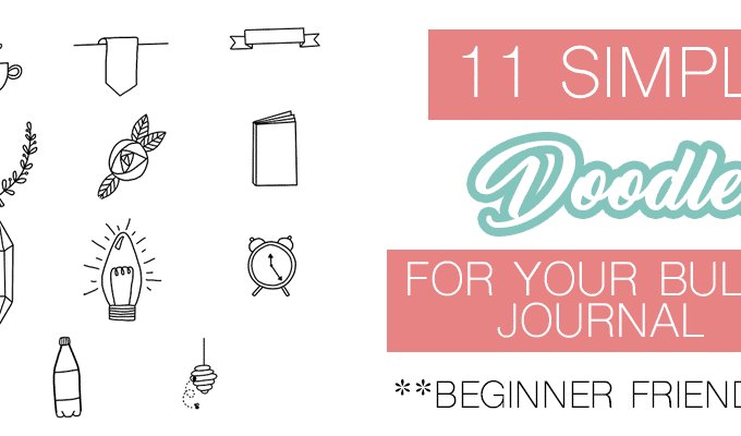11 Simple Planner Doodles Tutorial for Beginners