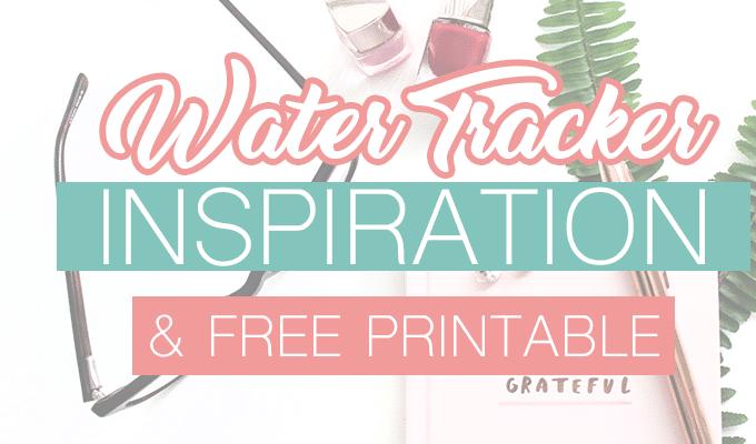 Bullet Journal Water Tracker Printable + Inspiration
