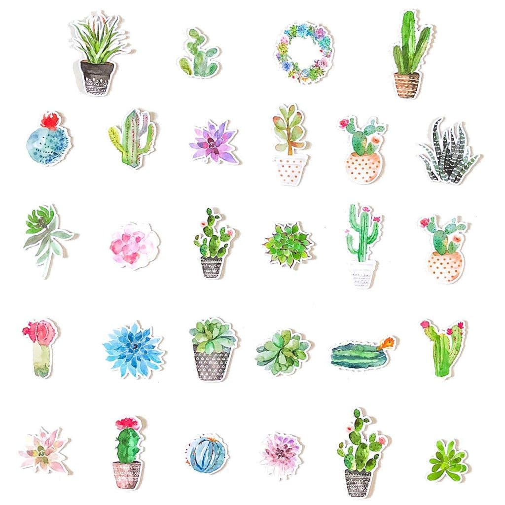 Cute Succulent Stickers for Your Bullet Journal or Planner