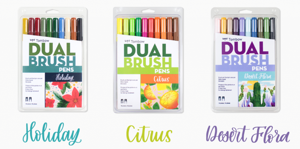 The Ultimate 2018 Bullet Journal Gift Guide: Tombow Dual Brush Pens