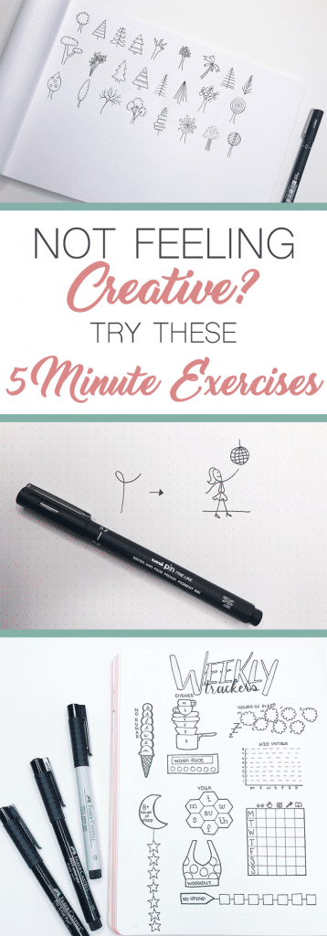 Not feeling creative? Not inspired? Try these quick 5-Minute Exercises to become more creative