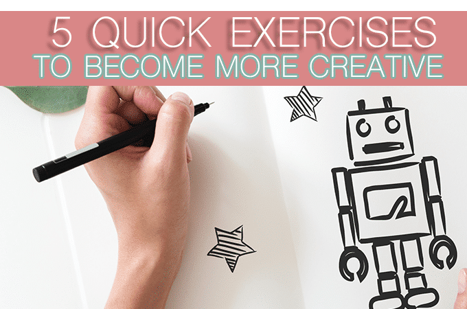 Become More Creative with These 5-Minute Drills + Free Printable Practice Pages
