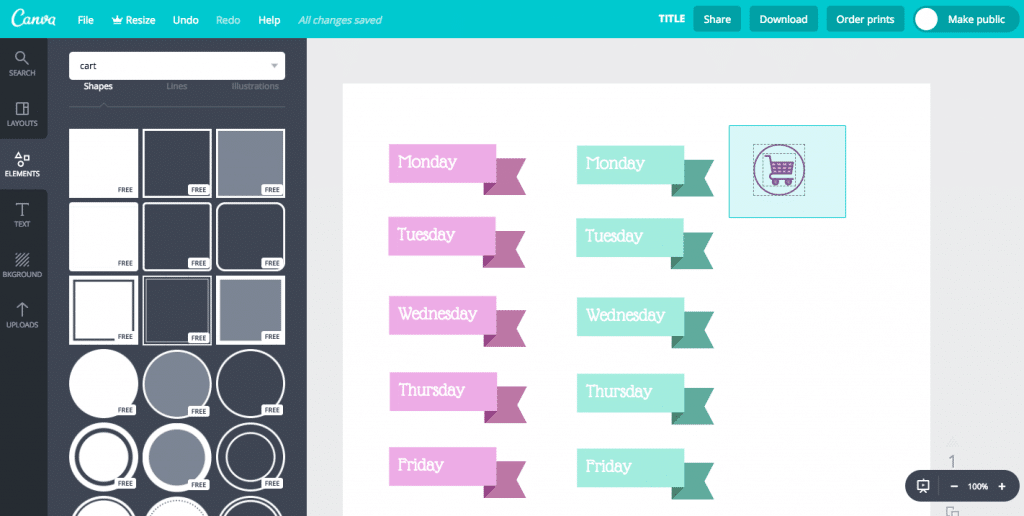 How to Use Canva to Make Planner Stickers