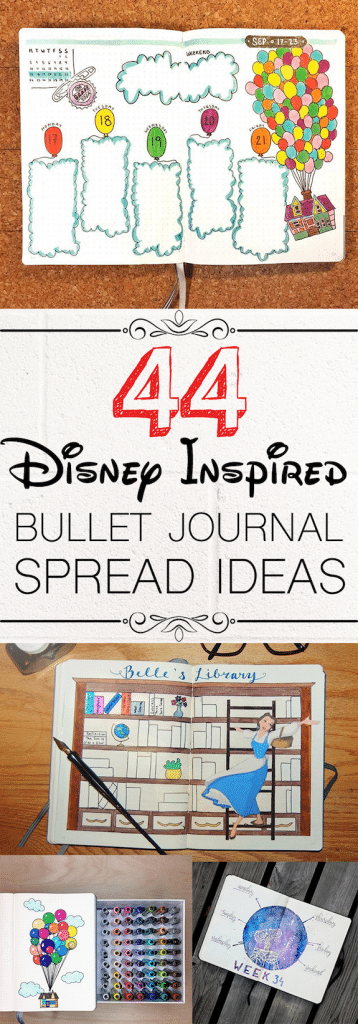 44 Disney Bullet Journal Spreads for Inspiration