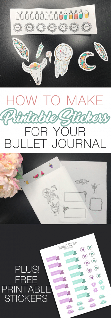How to make printable stickers for your bullet journal without any special software or equipment