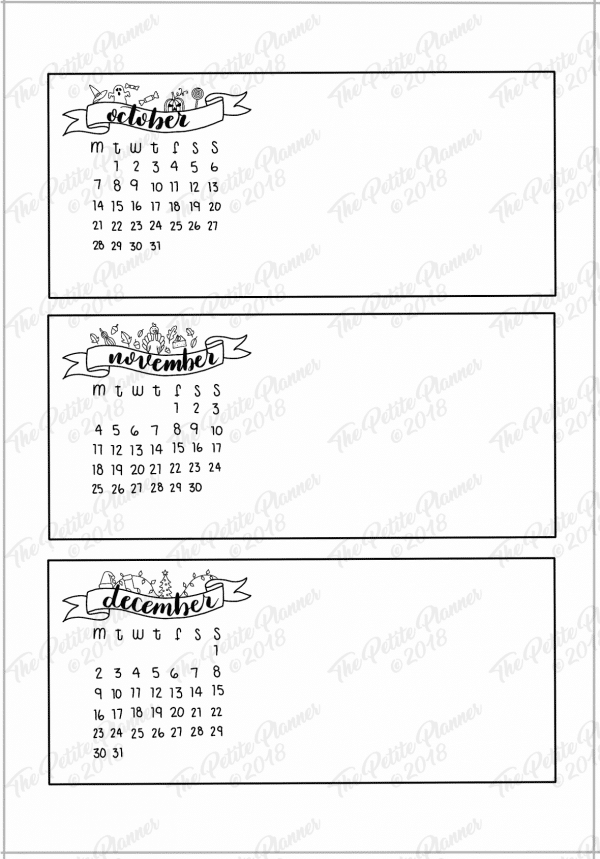 2019 Bullet Journal Future Log Printable