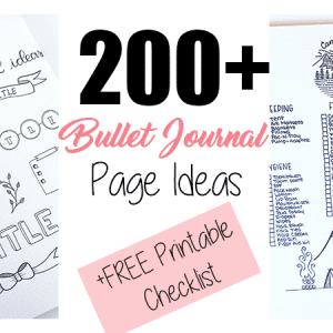 200+ Bullet Journal Ideas