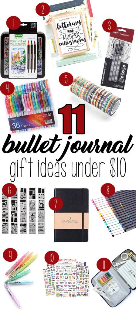 11 Bullet Journal Gift Ideas Under $10