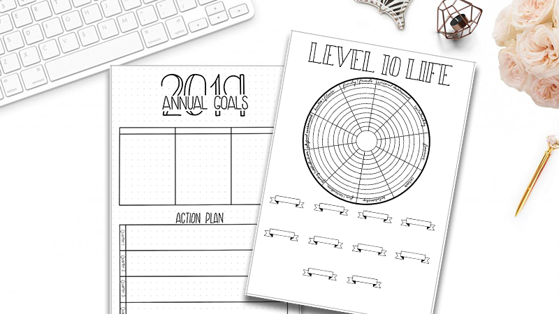 photograph relating to Goals Printable called 2019 Plans Position 10 Lifetime Printable Pack