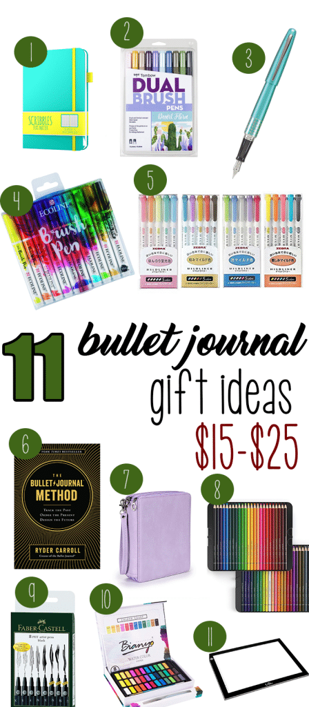 11 Bullet Journal Gift Ideas Between $15-$25