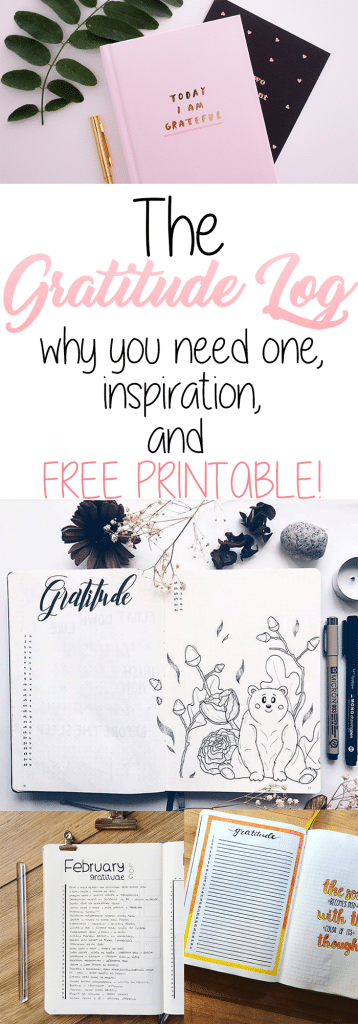 The Bullet Journal Gratitude Log: Why You Need One, Inspiration to make your own, and free printable