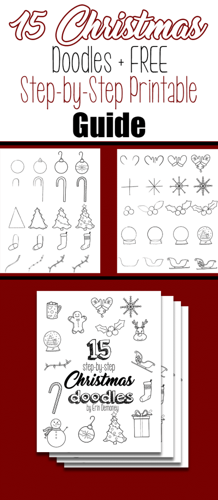 15 Step-by-Step Christmas Doodles for Your Bullet Journal + FREE Printable Guide