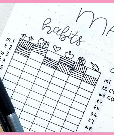 101 Habit Tracker Ideas for your bullet journal