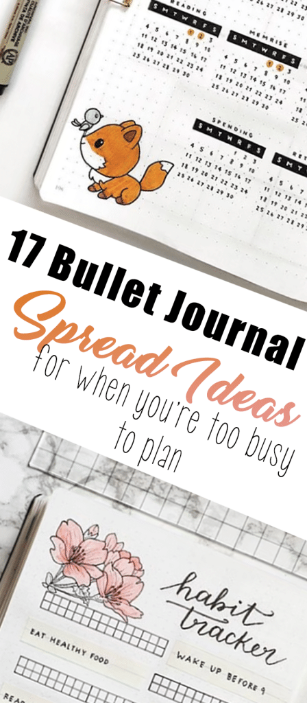 17 Bullet Journal Spread Ideas for When You Are Too Busy to Plan
