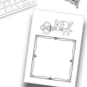 bullet journal key page printable