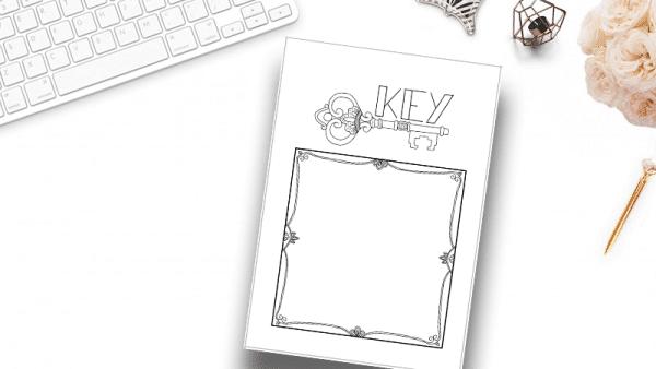 bullet journal key page printable
