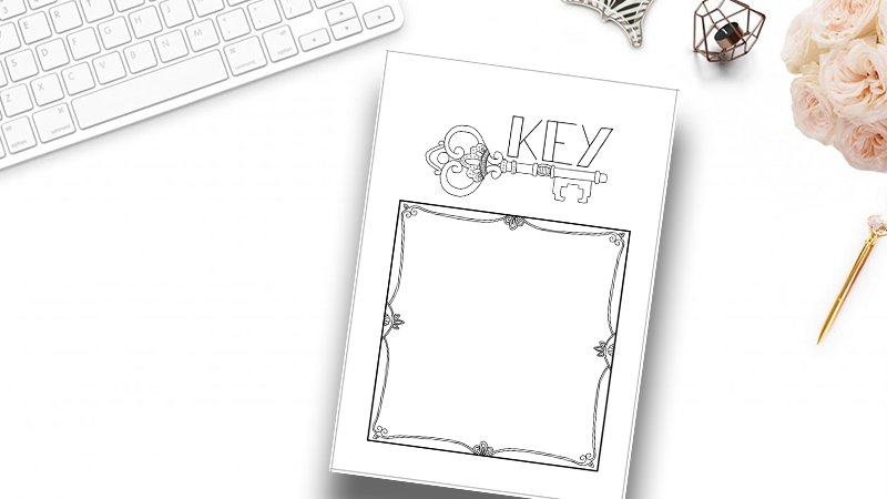photograph relating to Bullet Journal Key Printable called Bullet Magazine Mystery Webpage