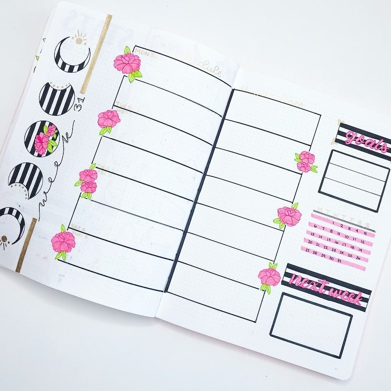 Kate Spade Inspired Weekly Spread | My Favorite Weekly Spread of 2018