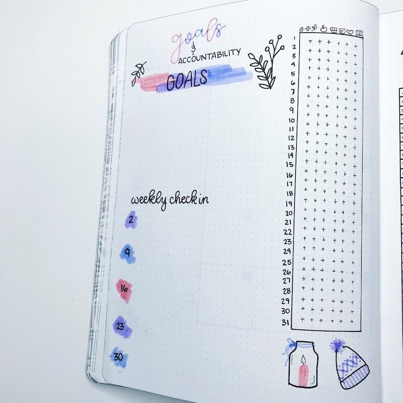 Tracking fewer things in my habit tracker this December