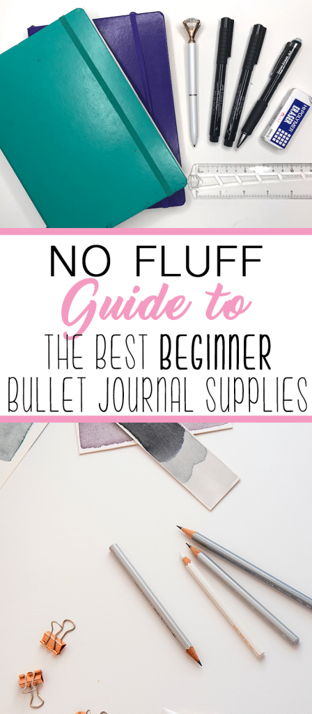 The Best Bullet Journal Supplies for Beginners. No fluff, just the realistic, efficient stuff