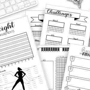 Health and Fitness Bullet Journal Printable Bundle