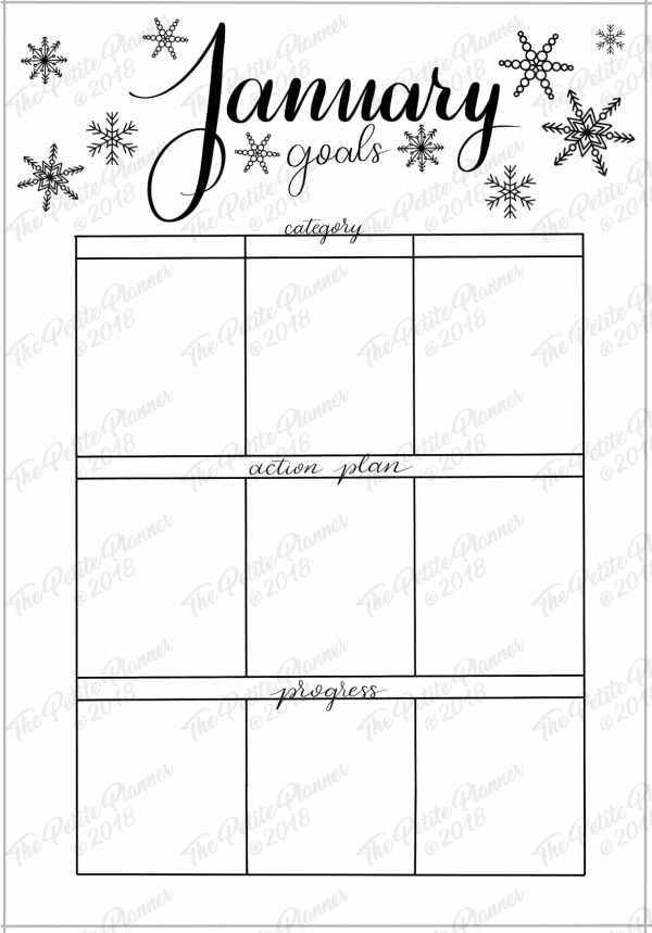 January 2019 Printable Bullet Journal Setup