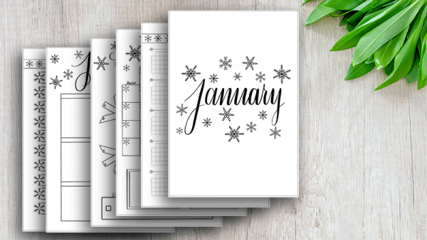 January 2019 Bullet Journal Setup Printable Pack