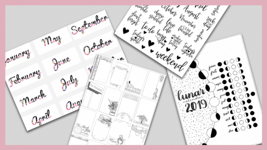 29 Free Bullet Journal Printables for 2019