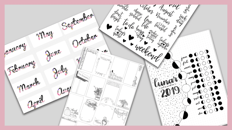 29 Free Bullet Journal Printables To Snag For 2019 The Petite Planner