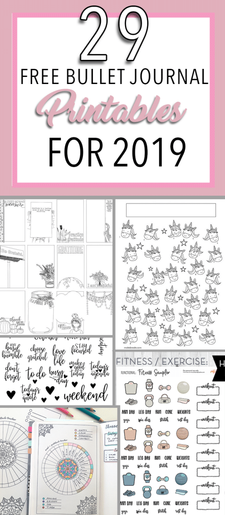 photograph about Printable Bullet Journal Paper named 29 Cost-free Bullet Magazine Printables towards Snag for 2019 - The