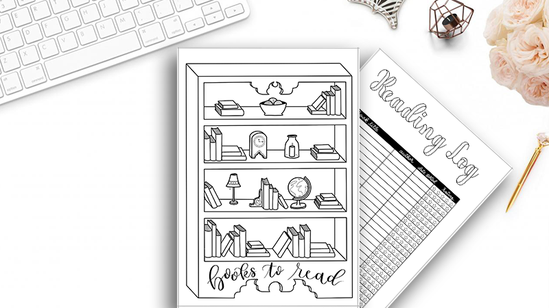 Books to Read and Reading Log Printable Pack