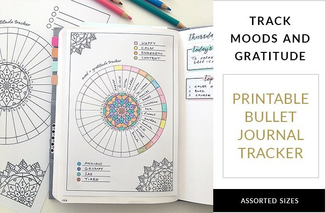 Free Mood and Gratitude Log for Your Bullet Journal