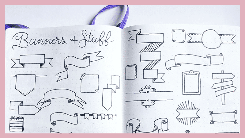 How to Draw Banners for Your Bullet Journal: Beginner Friendly