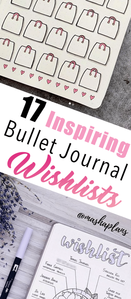 17 Inspiring Bullet Journal Wishlists. Don't be afraid to write down those dream items, even if they seem out of reach right now.