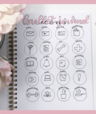 How to Use Icons in Your Bullet Journal to Increase Productivity