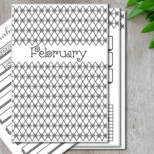 February 2019 Printable Bullet Journal Kit