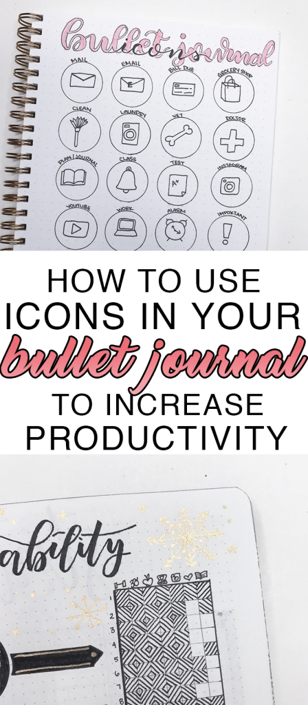 How to Draw and Use Icons in Your Bullet Journal to Increase Productivity