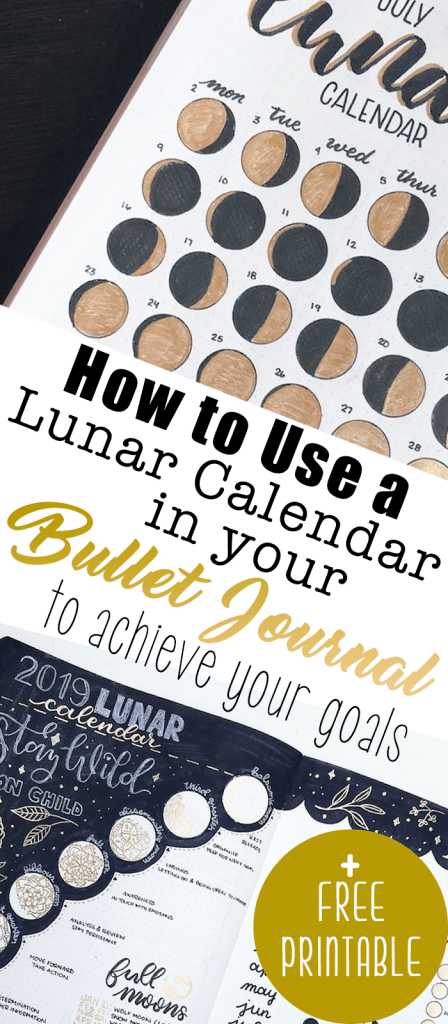 How to Align Your Goals with the Phases of the Moon in your Bullet Journal