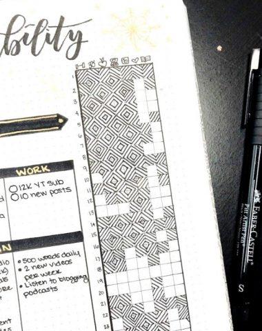 Habit tracker in a bullet journal
