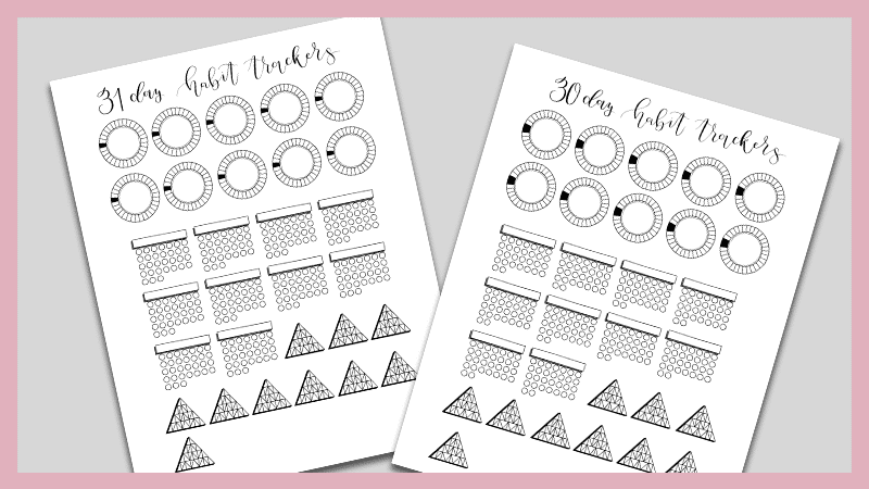 image relating to Bullet Journal Habit Tracker Printable identified as Cost-free Mini Routine Tracker Printable for Your Bullet Magazine