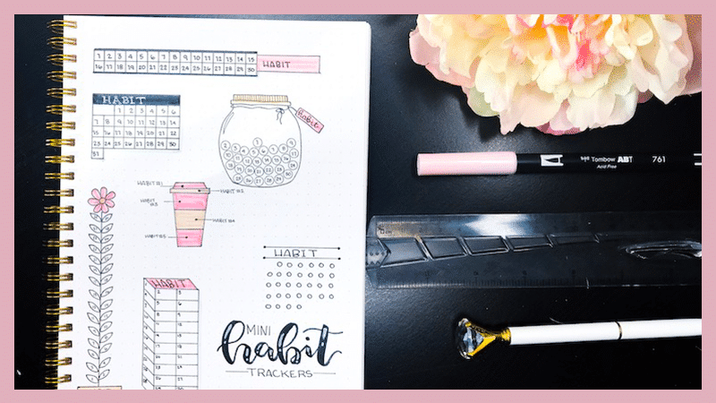 Mini Habit Tracker Designs for Your Bullet Journal
