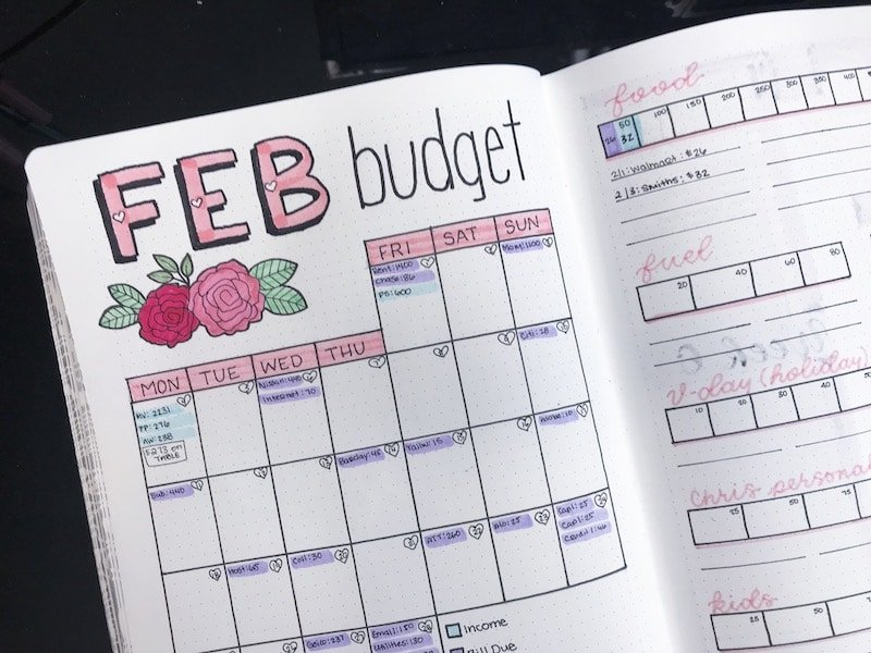 Bullet Journal Bill Tracker and Budget