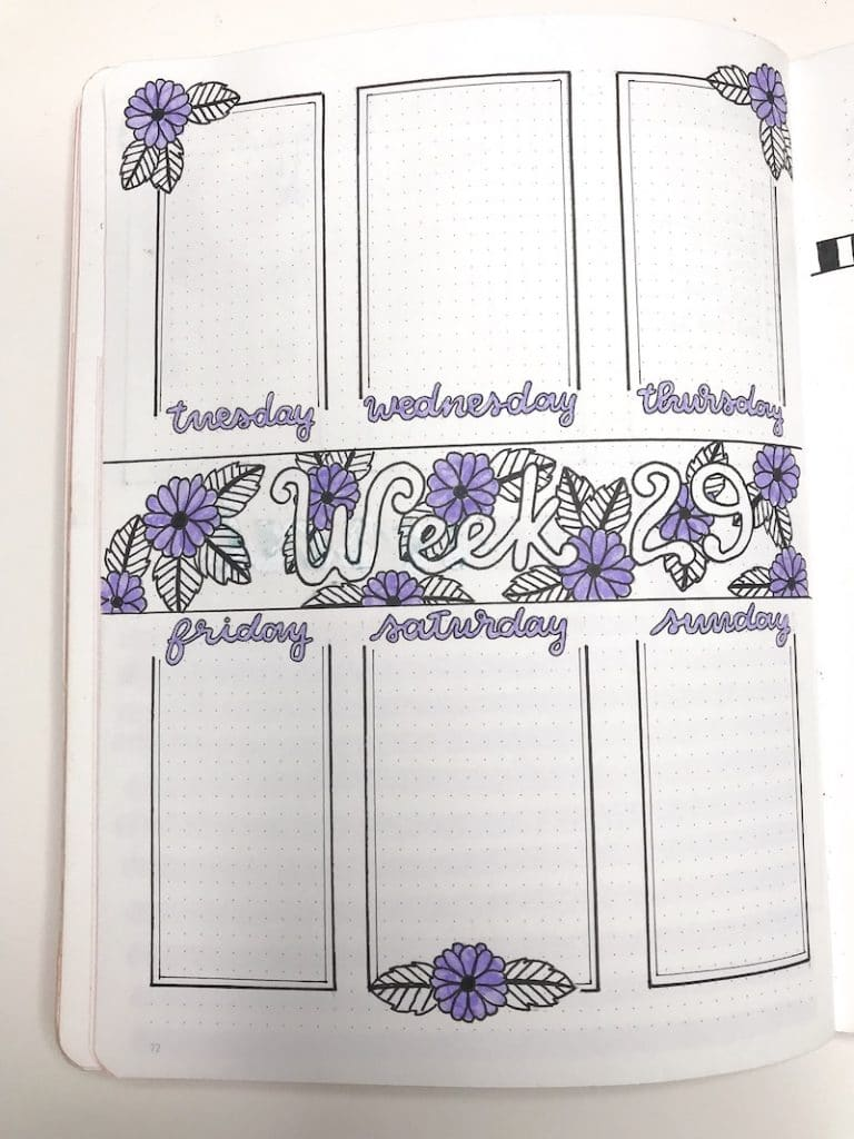 Finding Your Weekly Layout Style in Your Bullet Journal