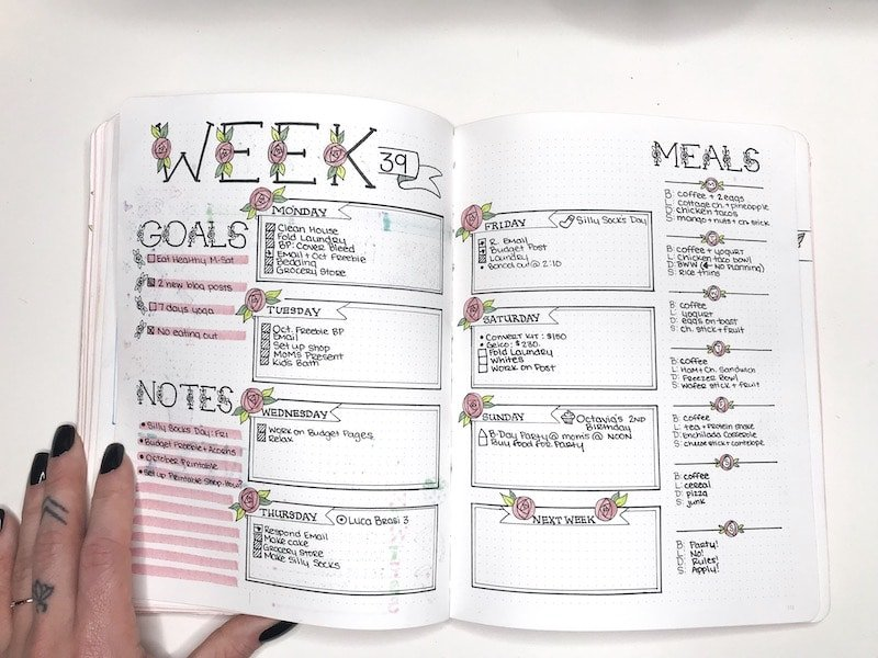 Weekly Spreads in Your Bullet Journal