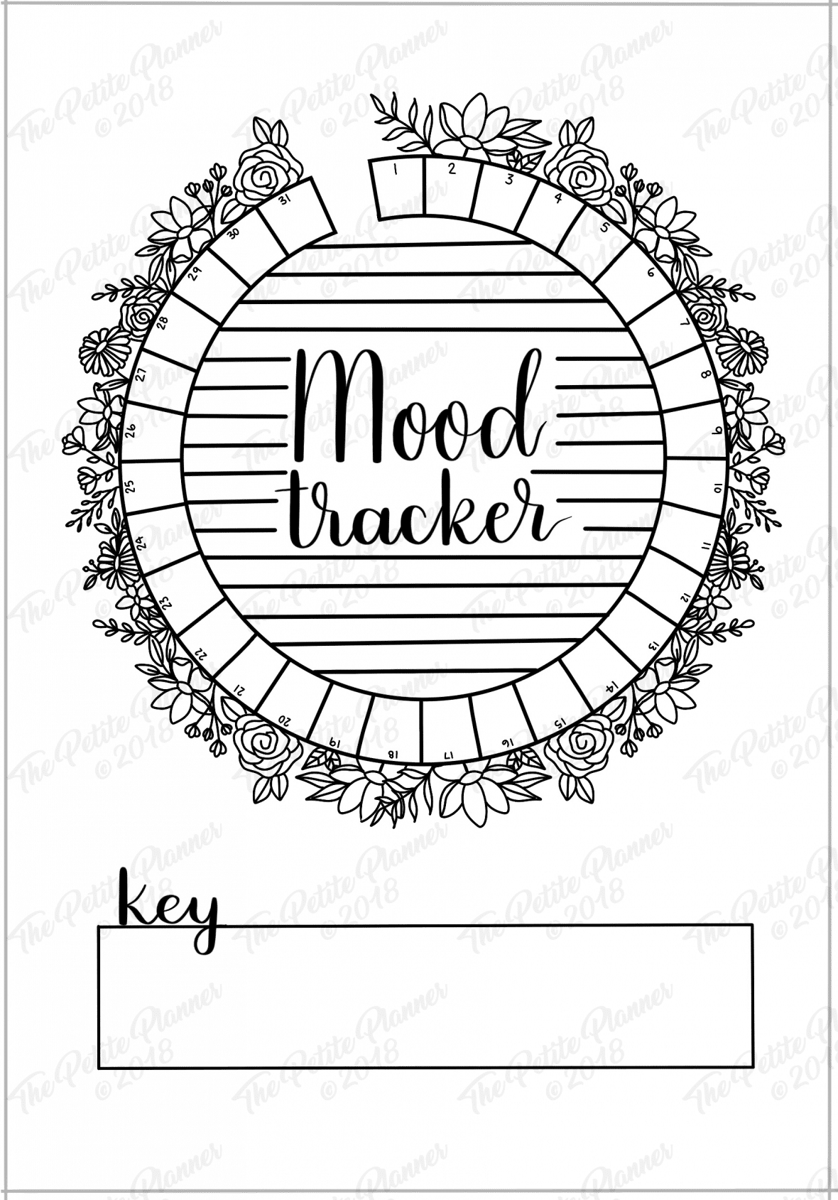 photo about Printable Mood Tracker named March 2019 Printable Bullet Magazine Set up