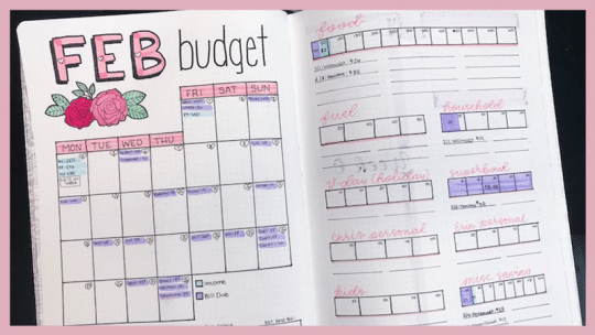 Bullet Journal Bill Tracker