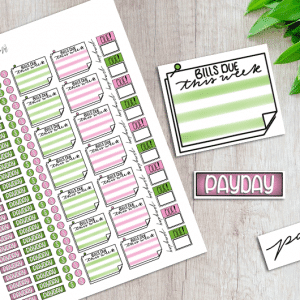 Printable Financial Planner Stickers