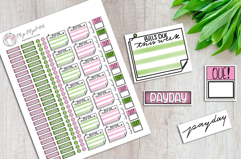 graphic about Free Printable Financial Planner named Printable Fiscal Planner Stickers